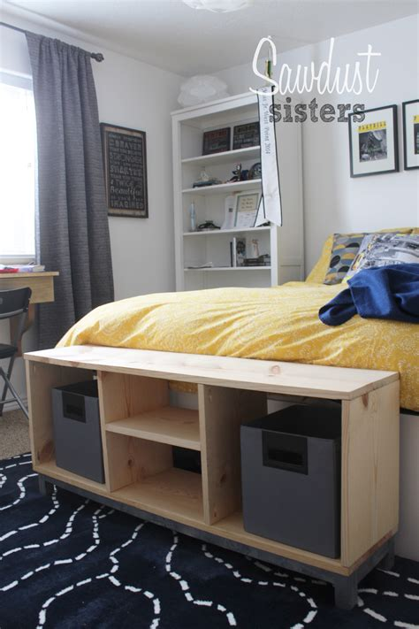 diy ikea diy bench with storage compartments ikea nornas look