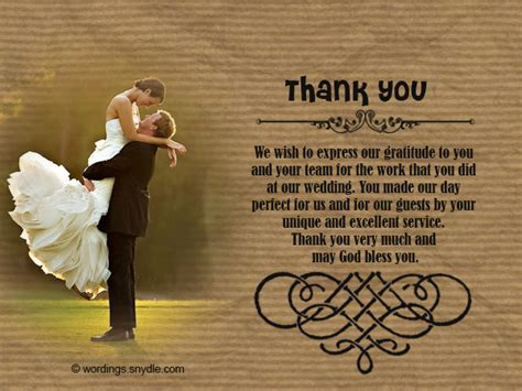 thank you letter after wedding reception wedding thank you notes wordings and messages