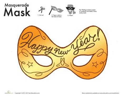free printable new year masks 17 best images about happy new year on