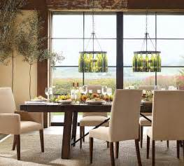Lighting For Dining Rooms dining room lights wine bottle chandelier homey designing