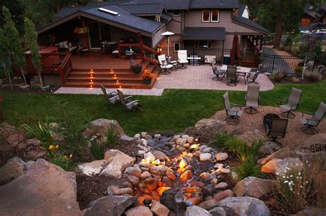 landscaping bend oregon landscape lighting project nw bend oregon newport ave landscaping