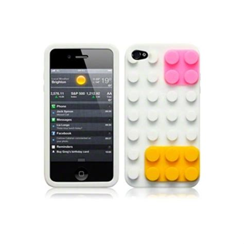 brick style silicone iphone 4 / 4s cover mytrendyphone blog