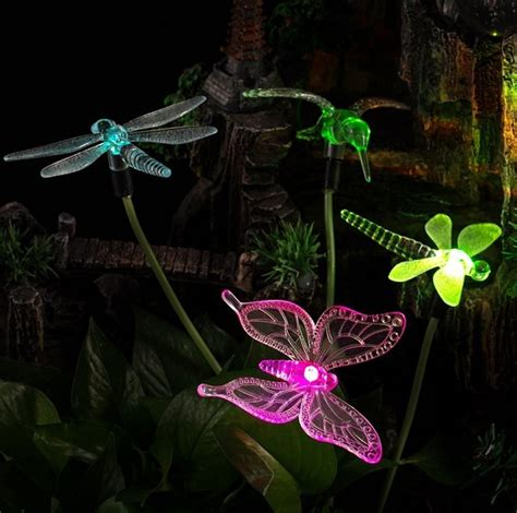 Solar Powered Color Changing Outdoor Stake Lights Fresh Solar Butterfly Light Garden Stake