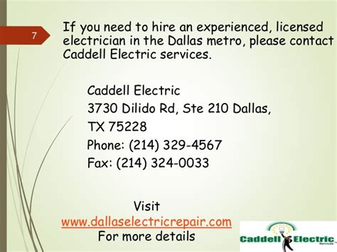 caddell electric electrician dallas tx electricians 4 facts about electricians you need to know