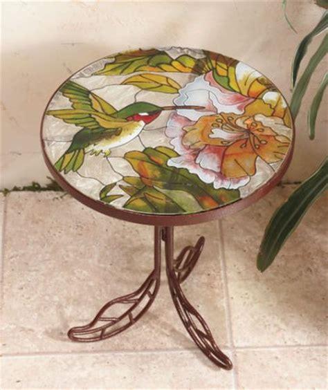 Hummingbird Garden Patio Accent Table The World S Catalog Of Ideas