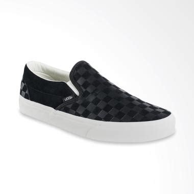 Jual Vans Slip On Black jual vans u classic slip on sepatu pria black marshma vn0a38f7qcf harga kualitas