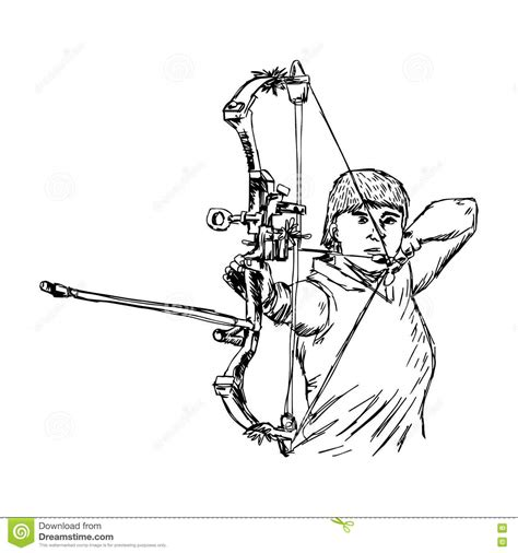archery doodle archery illustrations vector stock images