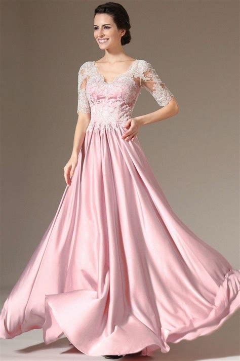 Wedding Informal Dress by V Neck Half Sleeve Evening Formal Prom Cocktail