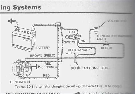wiring diagram for alternator with regulator