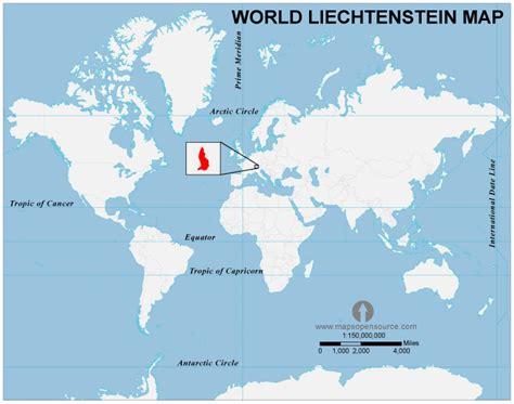 where is liechtenstein on a map liechtenstein country profile free maps of liechtenstein