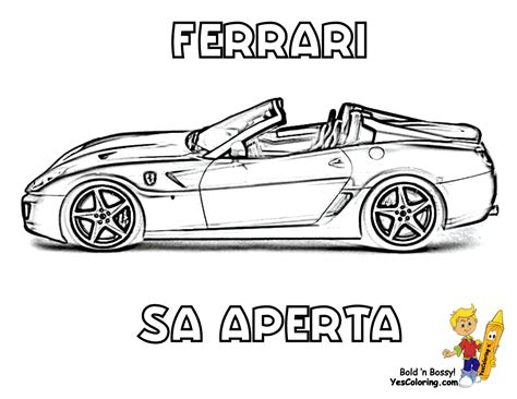 free coloring pages of exotic cars