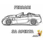 Workhorse Ferrari Coloring Pages  Free Car