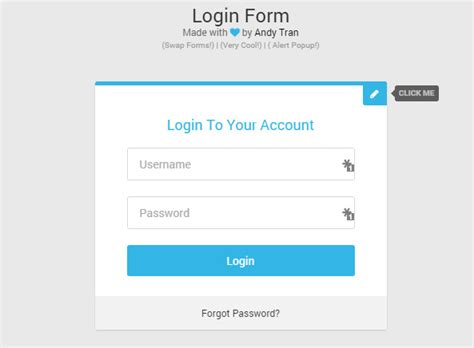 login form html5 template 35 free css3 html5 login form templates
