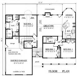 1500 Square Foot Floor Plans House Plans Home Builder Prescott Sons Construction