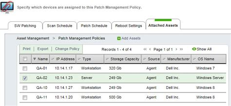 Edit A Patch Management Policy Asset Management Policy Template