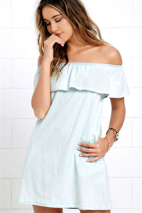 Nicely Dress X S M L breezy light blue dress chambray dress the
