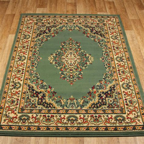 large rugs uk keshan rugs 112 g green aubusson free uk delivery the rug seller