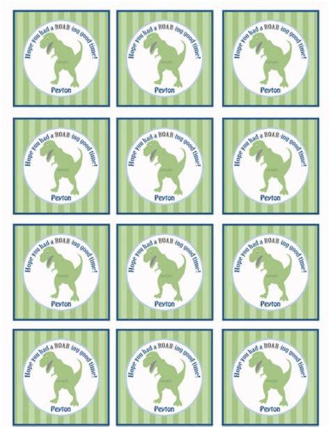 printable dinosaur gift tags dinosaur birthday favor tags or cupcake topper printable