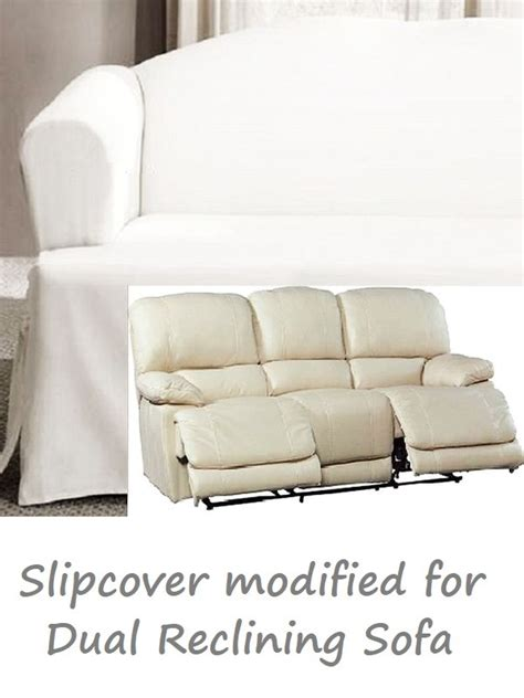 dual reclining sofa slipcover dual reclining sofa slipcover t cushion white cotton sure