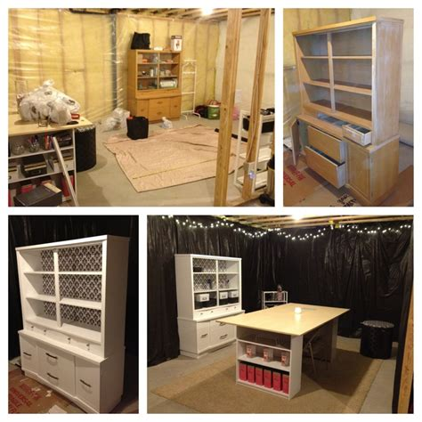ikea basement ideas my unfinished basement converted craft space before