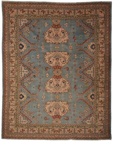 10 by 13 wool rugs antique turkish oushak 10x13 rug 9412