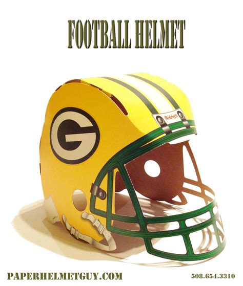 Paper Football Helmet Template
