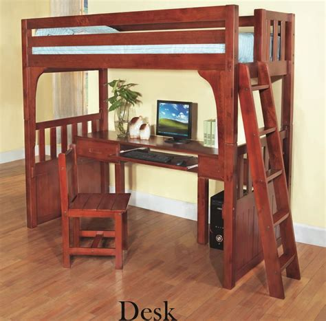 discovery world furniture twin  desk merlot