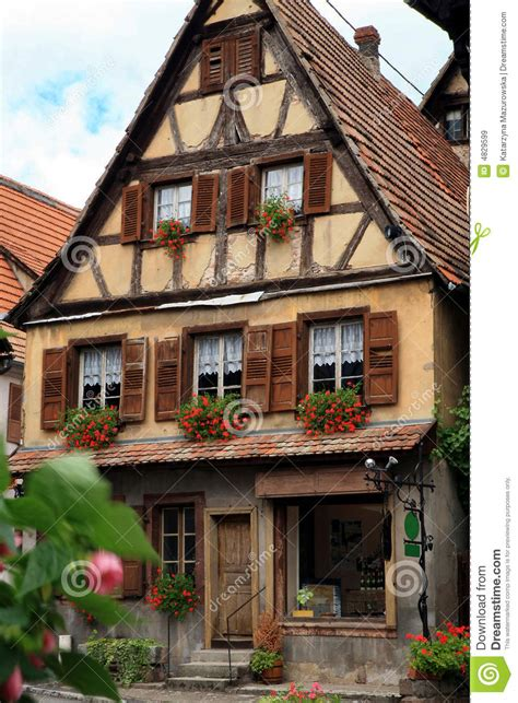 Mountain Style House Plans french village alsace france stock image image 4829599