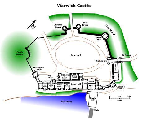 Warwick Castle Floor Plan file warwick castle plan svg wikimedia commons