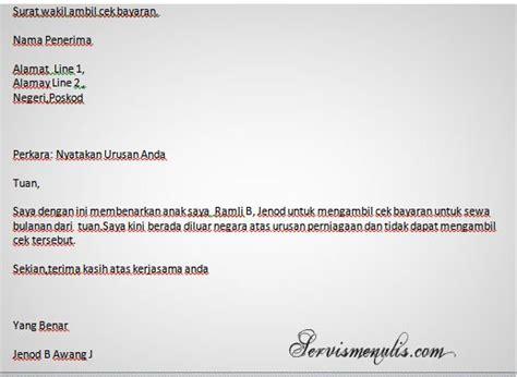 contoh surat wakil kuasa