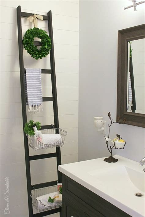 30 Awesome Diy Storage Ideas Diy Joy Bathroom Storage Ladder