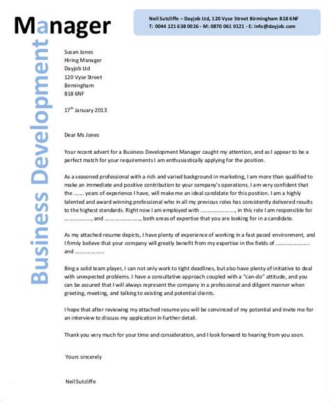 Business Development Support Cover Letter by 32 Business Letter Template Free Premium Templates