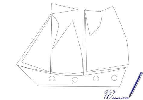 dessin d un bateau à voile coloriage bateau 224 imprimer