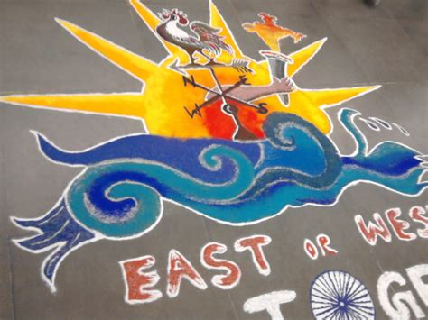 rangoli theme unity in diversity my experiments with art december 2010