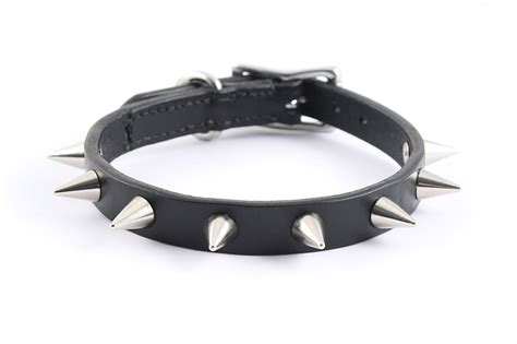 puppy collar size spiked leather collar size s