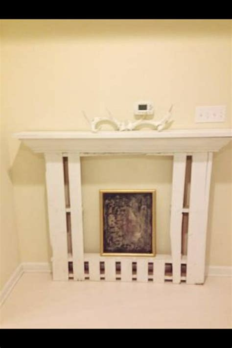 faux fireplace mantel made from pallets faux fireplace