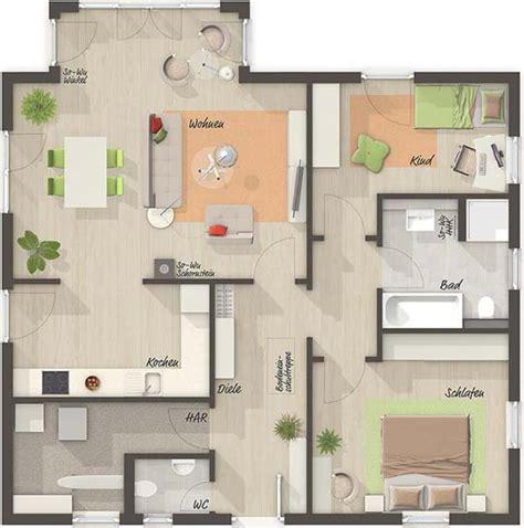 grundriss wohnung 80 m2 grundriss erdgeschoss tend bunglaow 92