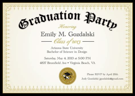 Minimalistic Graduation Invitation Card Template by Graduation Invitation Templates Graduation Ceremony