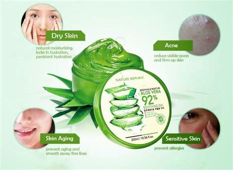 Nature Republic Aloe Vera Soothing Gel Hair Treatment nature republic soothing moisture aloe vera soothing