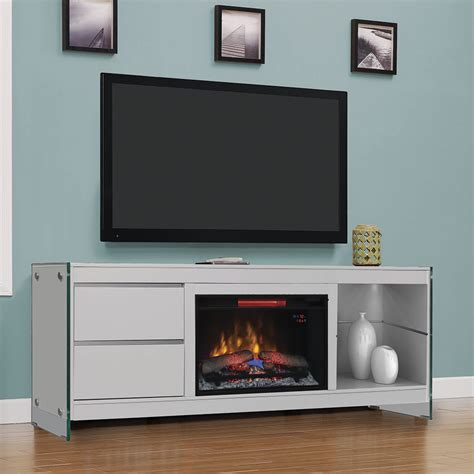 biscayne electric fireplace entertainment center in white