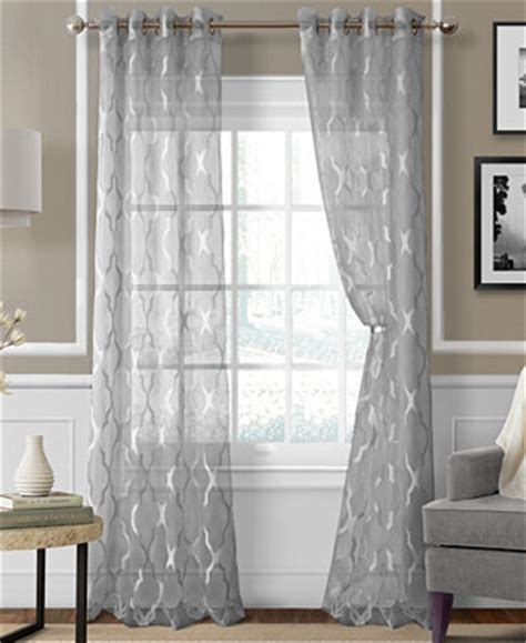 curtains at macy s elrene sonata sheer grommet panel collection curtains