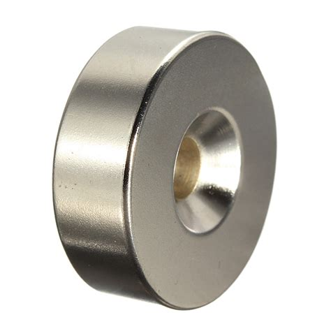 Aimant Puissant 470 by 30mm X 10mm With 6mm Countersink N35 Strong Disc