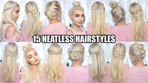 back to school heatless hairstyles 15 braided heatless back to school hairstyles youtube