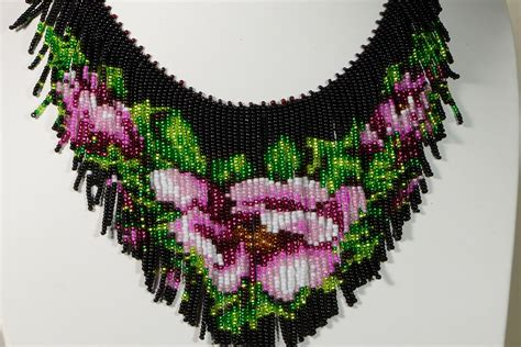 Beaded Necklace Tutorial Seed Necklace Pattern How