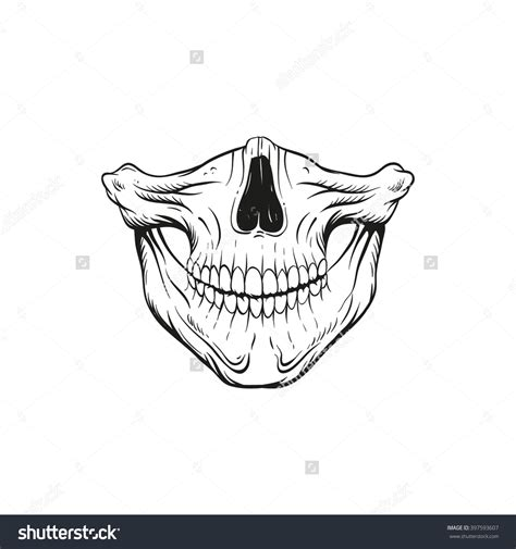 skull hand tattoo designs skull jaw sketch design vector