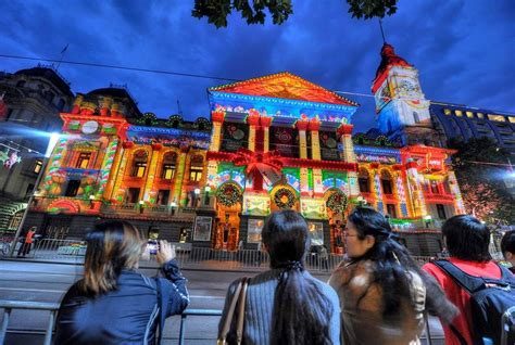 melbourne town hall christmas lights