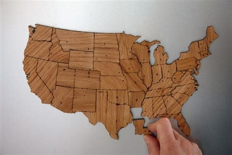 usa map magnetic puzzle usa regional magnetic geography puzzle stained plywood