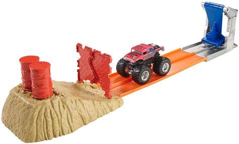 wheels monster truck race track wheels 174 monster jam 174 brick wall breakdown track set