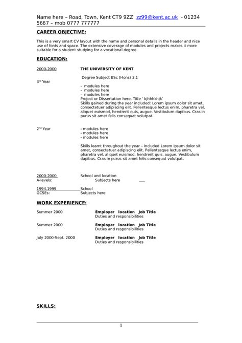 resume for a college student 16 job resume examples for college