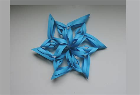 How To Make 3d Snowflakes With Paper - how to make a 3d paper snowflake origami kirigami diy